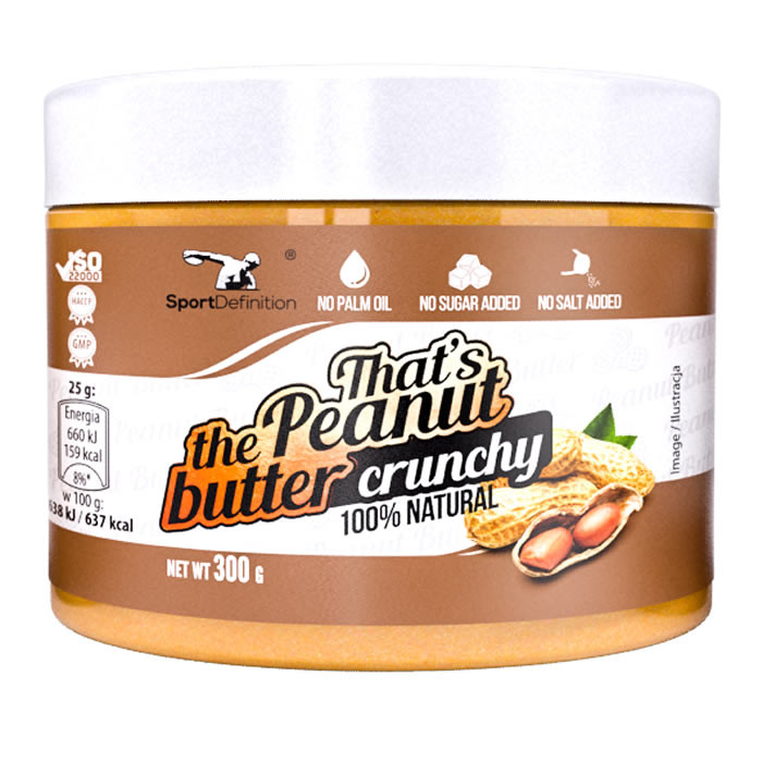 Sport Definition That's the Peanut Butter maapähklivõi, Crunchy (300 g)