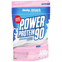Body Attack Power Protein 90 valgupulber, Vaarikakreemi (500 g)
