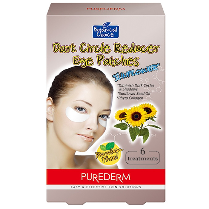 Purederm Dark Circle Reducer Eye Patches geelplaastrid päevalilleseemneõliga (6 x 2 tk)