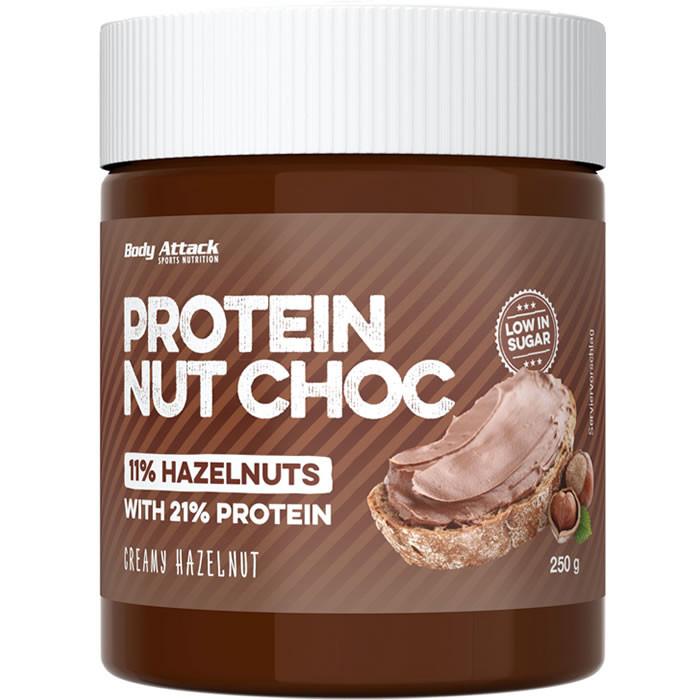 Body Attack Protein Nut Choc, Kreemja sarapuupähkli (250 g)