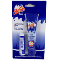 Malibu SKI Duo Pack (SPF50 Face Sun Protection kreem 50g + SPF20 huulepalsam 4 g)
