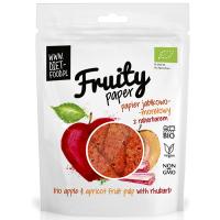 Diet Food Fruity Paper orgaanilised puuvilja-marjakrõpsud, Õuna-aprikoosi-rabarberi (25 g)