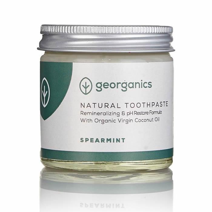 Georganics looduslik remineraliseeriv hambapasta kookosõli baasil, Rohemünt (60 ml)