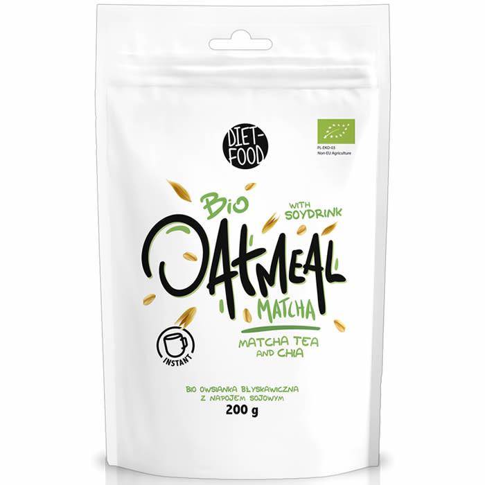 Diet Food Bio Oatmeal Matcha kaerahelbed matcha tee ja chia seemnetega (200 g)