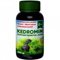 Kedromin kontsentreeritud jook seedri & nulu noortest võrsetest - C vitamiini sisaldus 288 mg/100g