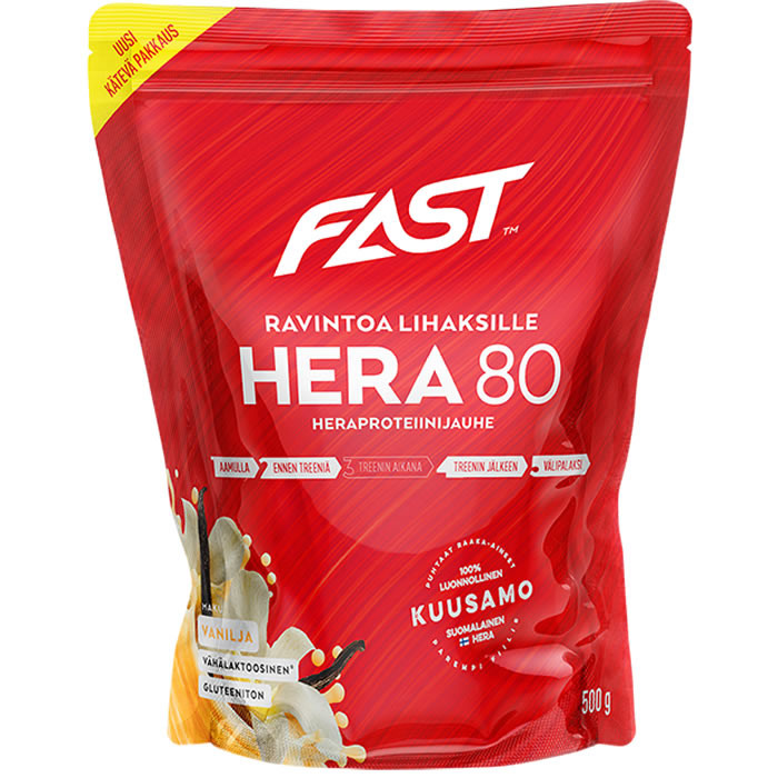 Fast Hera80 vadakuvalgupulber, Vanilje (500 g)