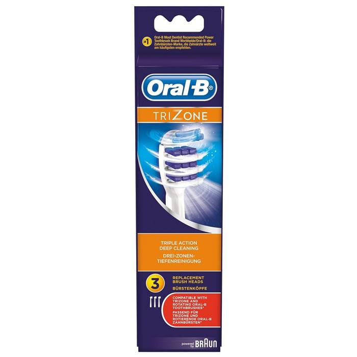 BRAUN Oral-B TriZone lisaharjad (3 tk)