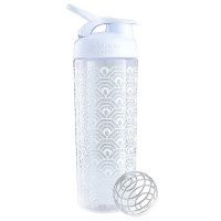 BlenderBottle SportMixer Signature Sleek šeiker/joogipudel, Clamshell White (820 ml)