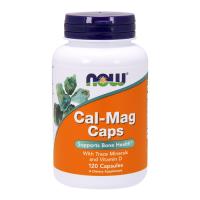 NOW Cal-Mag kapslid D vitamiiniga (120 tk)