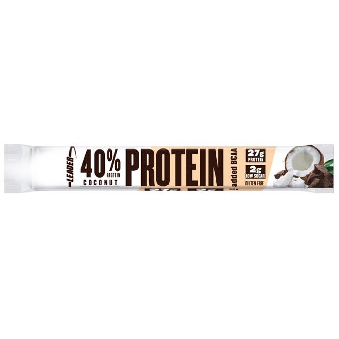 Leader 40% Protein batoon + BCAA, Kookose (68 g), parim enne 28.02.2021.
