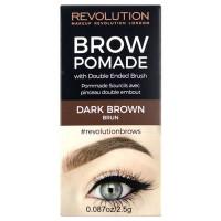 Makeup Revolution London Brow Pomade kreemjas kulmuvärv, Dark Brown (2.5 g)