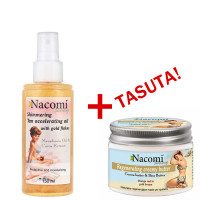 Nacomi Tan Accelerating kulla osakestega päevitusõli (150 ml) + TASUTA Regenerating After Sun kehavõi (150 ml)