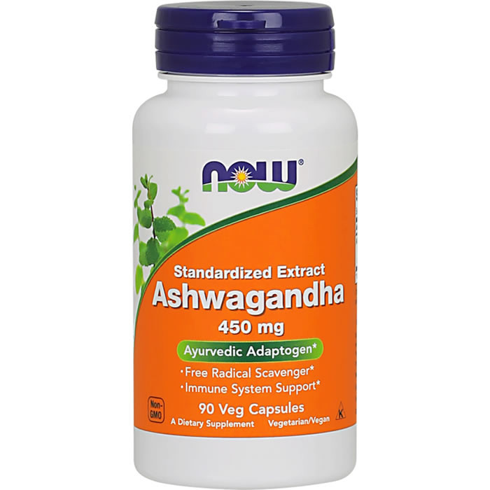 NOW Ashwandha Extract 450 mg kapslid (90 tk)