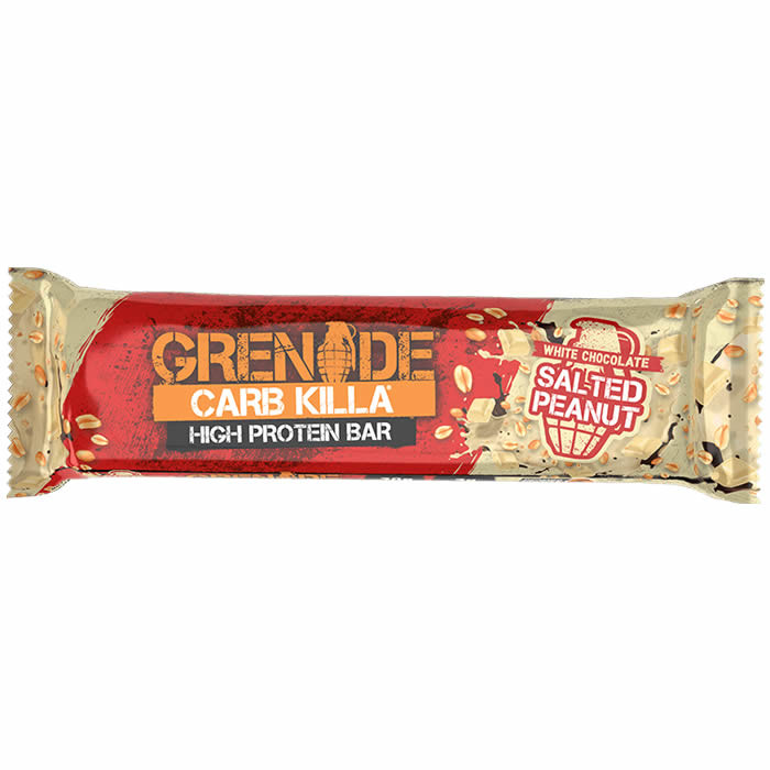 Grenade Carb Killa valgubatoon, White Chocolate Salted Peanut (60 g)