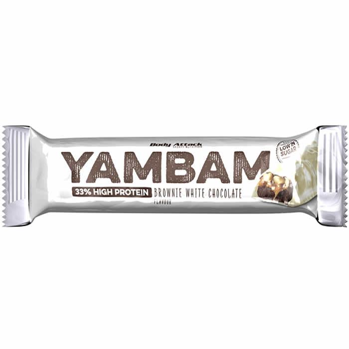 Body Attack YAMBAM valgubatoon,  Brownie valge šokolaadi (80 g)