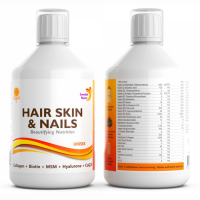 Swedish Nutra Hair, Skin & Nails Multivitamiin magusainega (500 ml)