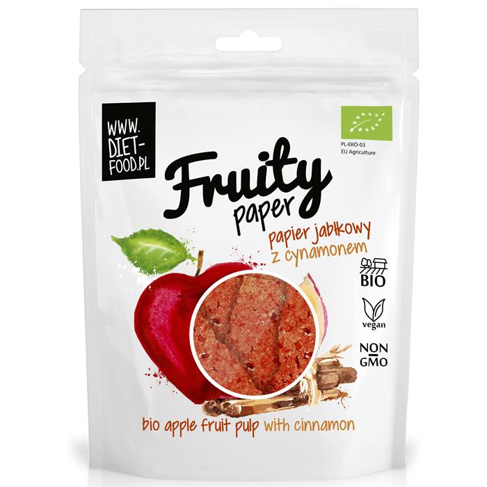 Diet Food Fruity Paper orgaanilised marjakrõpsud, Õuna-kaneeli (25 g)