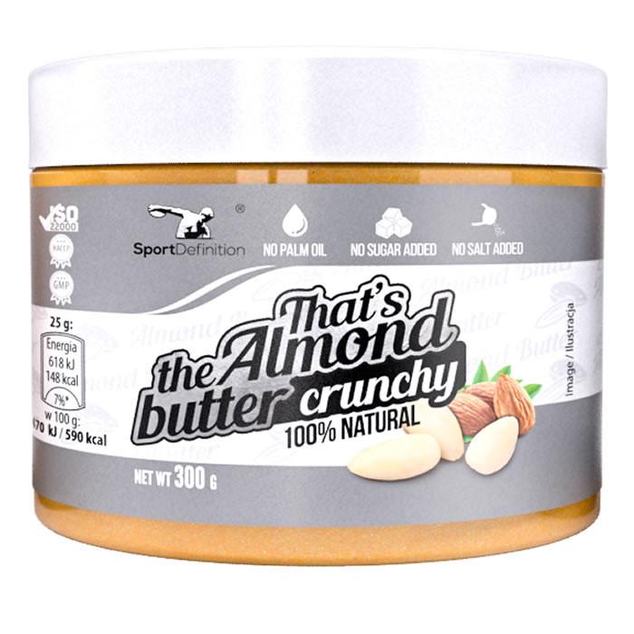 Sport Definition That's the Almond Butter mandlivõi, Crunchy (300 g)