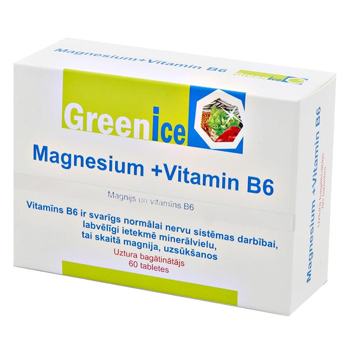 Greenice Magneesium + vitamiin B6 tabletid (60 tk)
