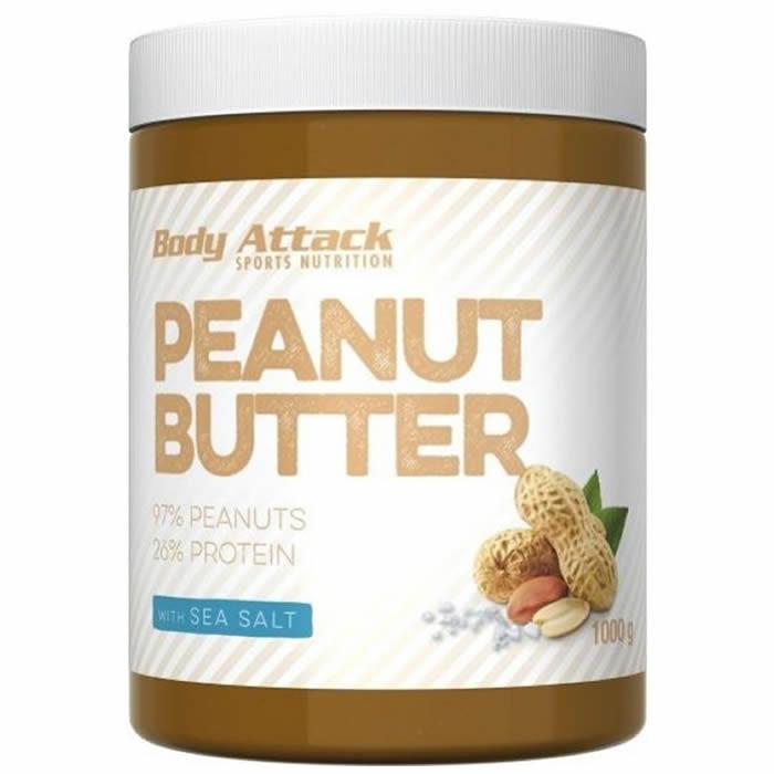 Body Attack Peanut Butter maapähklivõi, Sea Salt (1000 g)