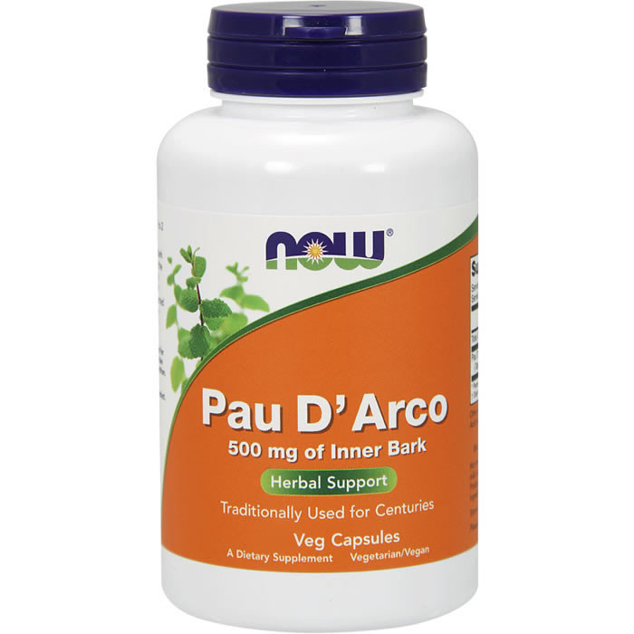 NOW Pau D'Arco 500 mg sipelgapuukoore kapslid (250 tk)