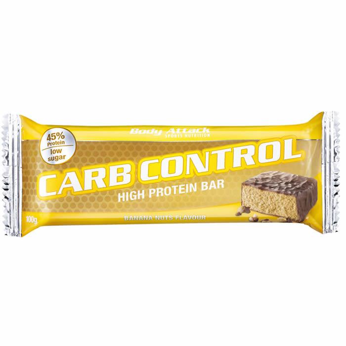 Body Attack Carb Control valgubatoon, Banaani-pähklite (100 g)