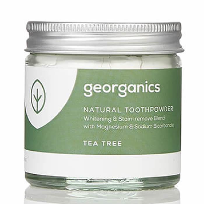 Georganics looduslik hambapulber, Teepuuõliga (60 ml)