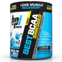 BPI Sports Best BCAA Shredded L-karnitiini ja L-tsitrulliiniga, Blue Raspberry (300 g)
