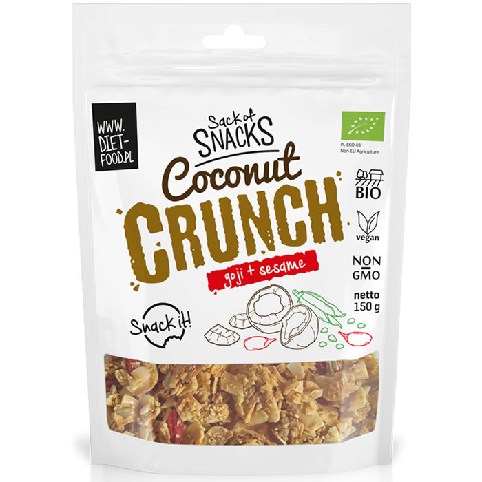 Diet Food Bio Coconut Crunch - Goji + seesamiseemned (150 g)