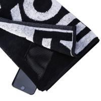 Prozis Gearsafe Gym Bench Towel taskuga trennirätik, Must (50 x 80 cm)