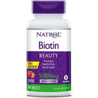 Natrol Biotin 5000 mcg närimistabletid (90 tk)