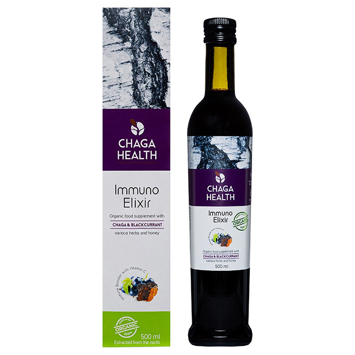 Chaga Health Immuno Eliksiir MAHE, Mustsõstra (500 ml)
