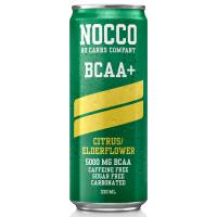 NOCCO BCAA+ jook (kofeiinivaba), Tsitruse-leedriõie (330 ml)