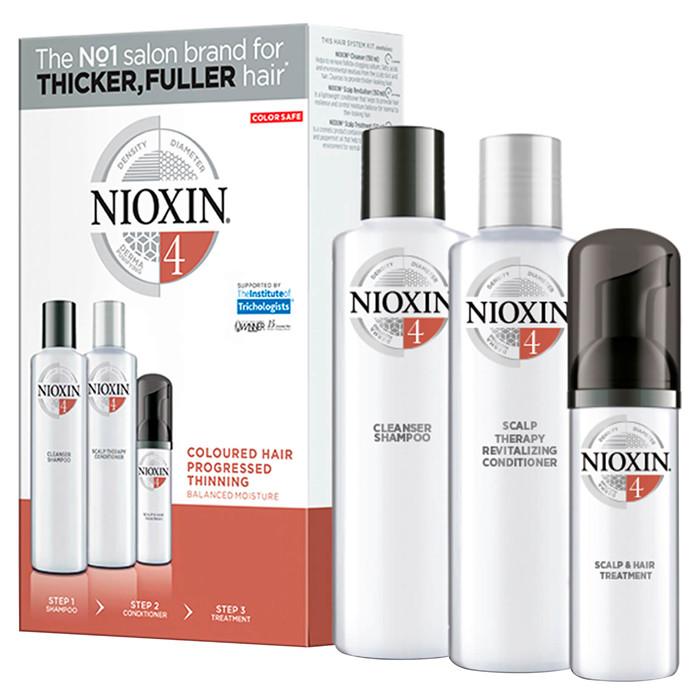Nioxin 4 juuksehoolduskomplekt (150 ml + 150 ml + 40 ml)