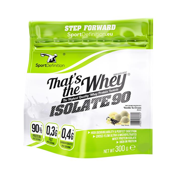 Sport Definition That's The Whey Isolate vadakuvalguisolaat, Vaniljejäätise (300 g)