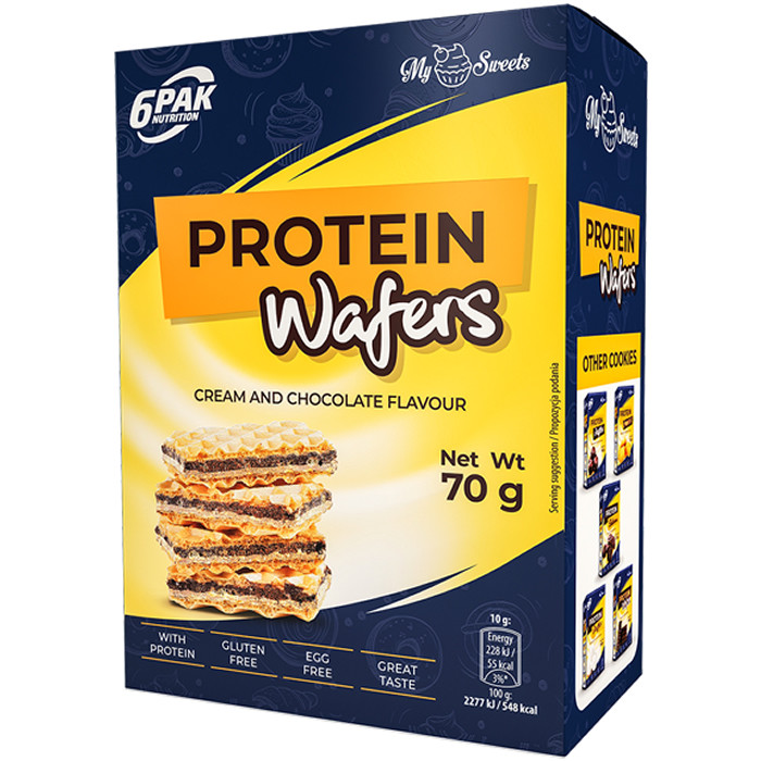 6PAK Protein Wafers proteiinivahvlid (70 g)