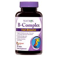 Natrol B-Complex, Coconut närimistabletid (90 tk)