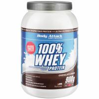 Body Attack 100% Whey Protein, Šokolaadi (900 g)