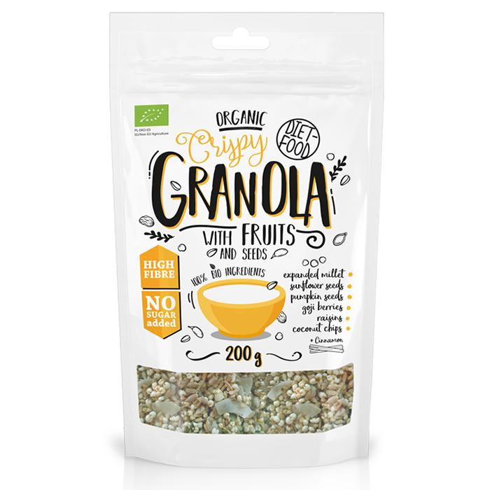 Diet Food Bio Granola with Fruits müslisegu puuviljadega (200 g)