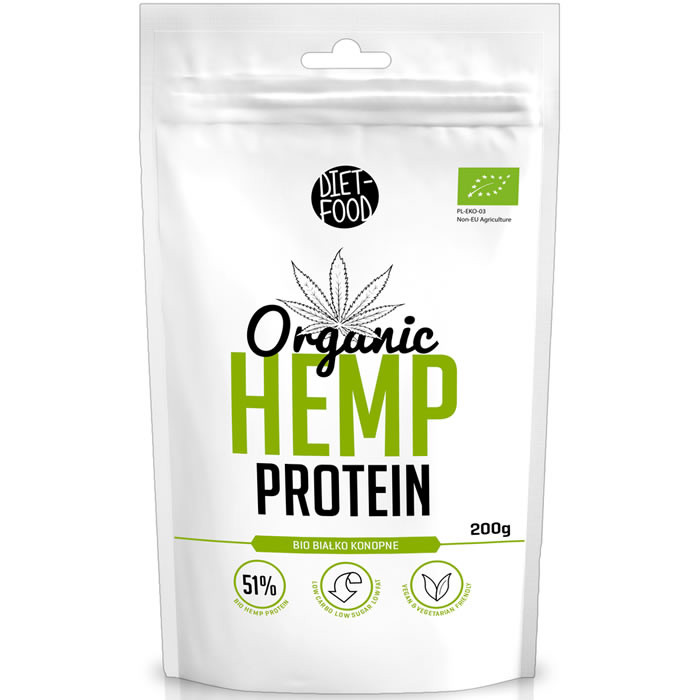 Diet Food Organic Hemp Protein kanepi proteiinipulber (200 g)