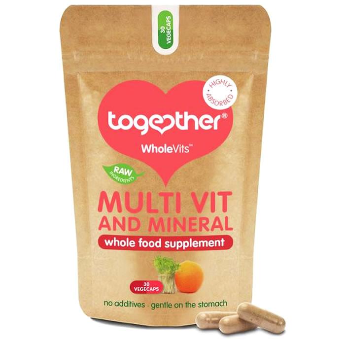Together Health WholeVits™ orgaaniline multivitamiinide ja mineraalide kompleks kapslid (30 tk)