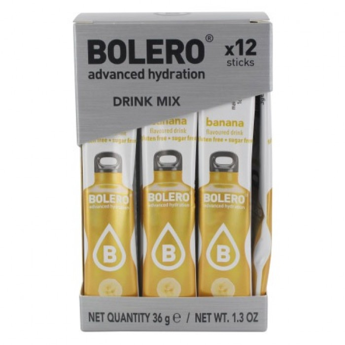 Bolero STICKS - Banana, spordijook (12 x 3g)