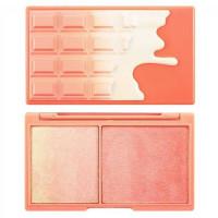 Makeup Revolution I Heart Makeup Peach and Glow põsepuna ja valgustpeegeldav särapuuder (11 g)