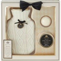 Style & Grace Signature Hot Water Bottle kinkekomplekt, Valge
