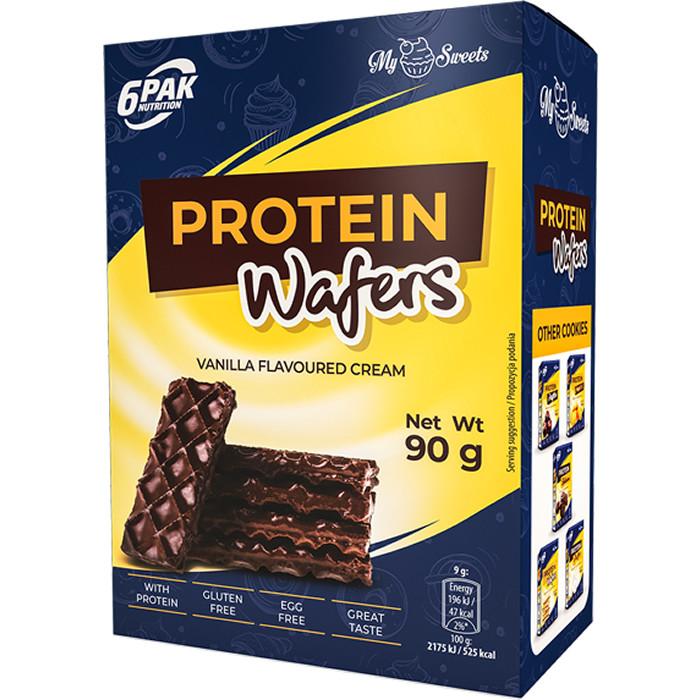 6PAK Protein Wafers proteiinivahvlid šokolaadikattega (90 g)