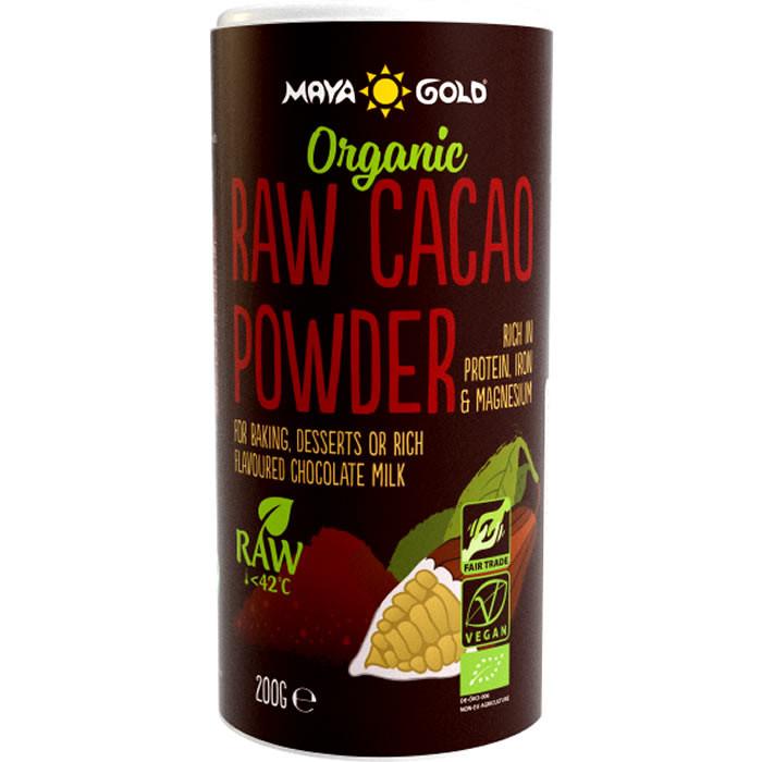 Maya Gold Organic Raw toorkakao pulber (200 g)