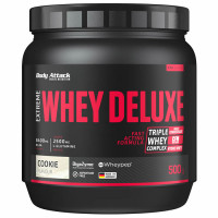 Body Attack Extreme Whey Deluxe valgupulber, Kreemiküpsise (500 g)