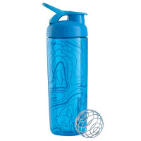 BlenderBottle SportMixer Signature Sleek šeiker/joogipudel, Topo Flow Aqua (820 ml)