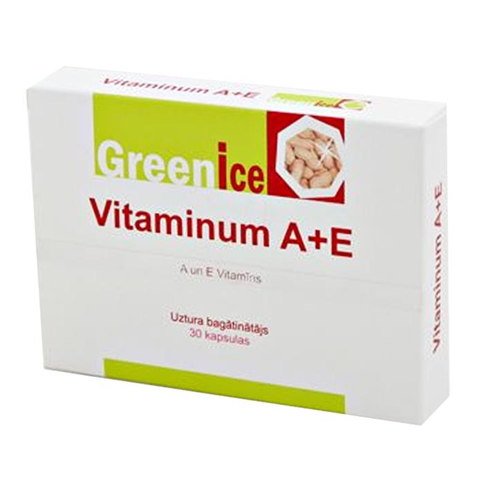 Greenice A+E vitamiin kapslid (30 tk)
