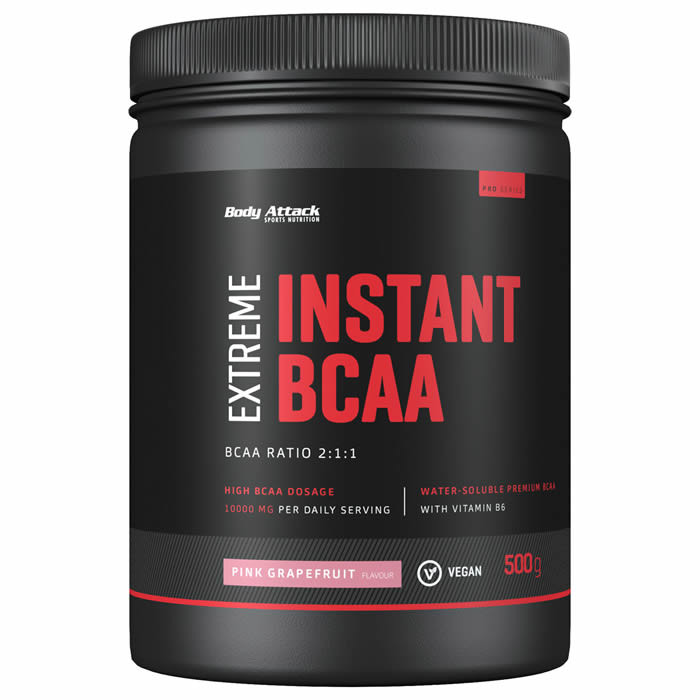 Body Attack Instant BCAA Extreme, Roosa greibi (500 g)